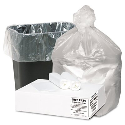 Webster Industries Good 'N Tuff High Density Waste Can Liners, 7-10 Gal, 5 Mic, 24 X 23, 1000/Carton