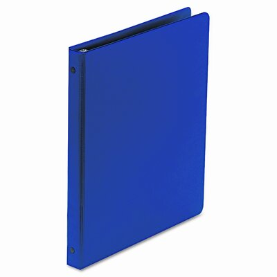 Wilson Jones Basic Vinyl Round Ring Binder, 1/2in Capacity, Dark Blue