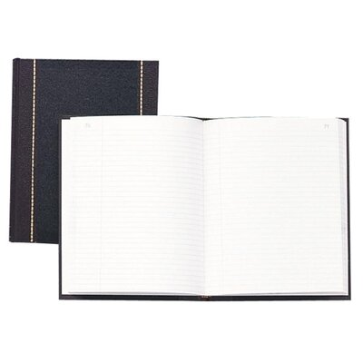 Wilson Jones Record Book, Record-Ruled, 150 Pages, 10-5/8&quot;x8-1/4&quot;, Black