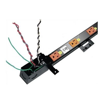 Middle Atlantic Long 20 Outlet, Configurable Single or Dual 20 Amp Circuit Thin Power Strip with J-Box