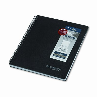 Mead Cambridge Black Hardbound Subject Notebook, Lgl Rule, Ltr, WE, 96-Sheet Pad