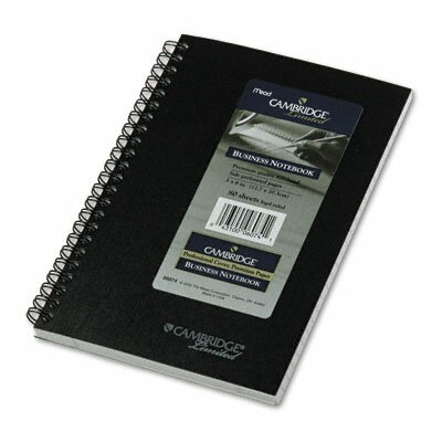 Mead Cambridge Limited Cambridge Limited Subject Wirebound Business Notebook, Legal Rule, 80-Sheets