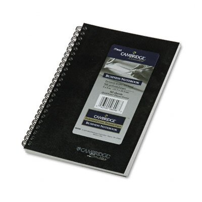 Mead Cambridge Wirebound Business Notebook, Ruled, 5 x 8, White, 80 Sheets/Pad                                                    