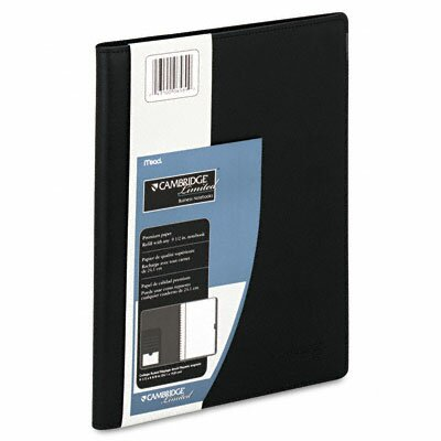 Mead Refillable Business Notebook Cover, Lgl Rule, 6 x 9-1/2-5/8, WE, 50 Sheets