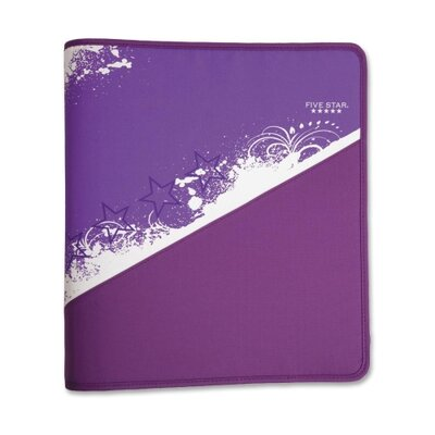 "Mead Zipper Binder, 1-1/2"", Zipper Pocket, 12""x13-3/4"", Assorted"
