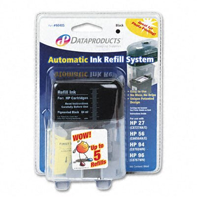 Dataproducts 60405 (C6656AN, C8727AN, C8765WN, C8767WN) Inkjet Cartridge, Std-Yld, Black