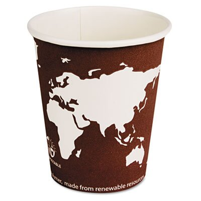 Eco-Products, Inc World Art Renewable Resource Compostable Hot Drink Cups, 8 Oz, 1000/Carton