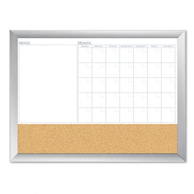 The Board Dudes Magnetic Dry Erase 3-N-1 Board, Cork Area, 24 X 18