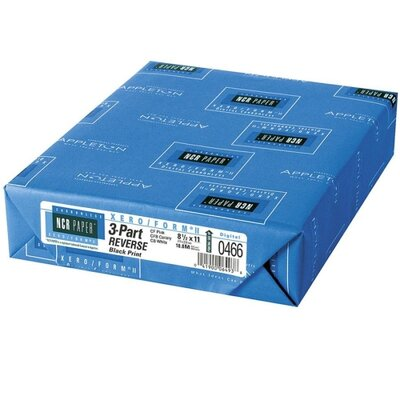 NCR Paper Carbonless Paper,3-Part Rev,500/PK,8-1/2&quot;x11&quot;,PK/CY/WE