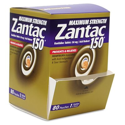 PRODUCTS FOR YOU                                   Zantac Maximum Strength 150Mg Acid Reducer, 1 Per Pack, 80 Packs/Box