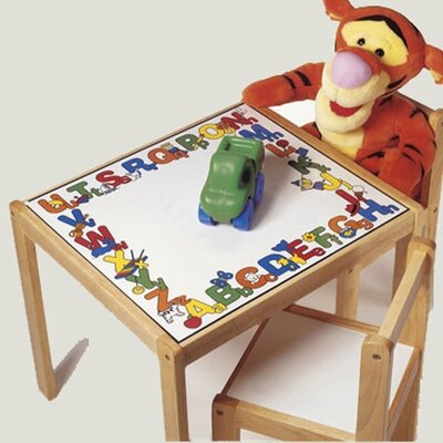 Lipper International ABC 123 Kids' 3 Piece Table and Chair Set