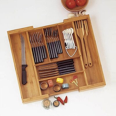 Lipper International Bamboo Expandable Flatware Organizer