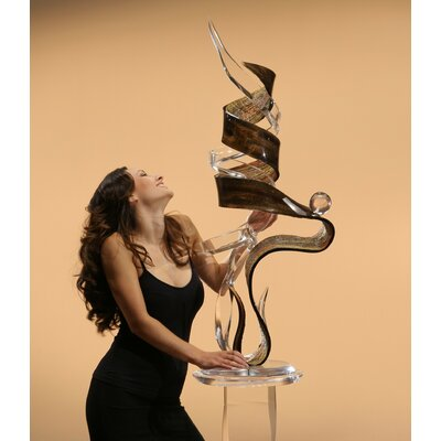 Shahrooz  Sculptures and Art Pieces Acrylic Serpent Sculpture in Clear and Dark Bronze
