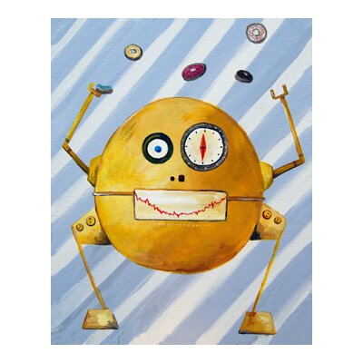 CiCi Art Factory Patchwork Mitmit Loves Donuts Robot Canvas Print by Liz Clay
