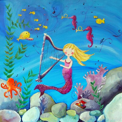 CiCi Art Factory Wit and Whimsy Blonde Haired Mermaid Giclee Canvas Print by Liz Clay ...