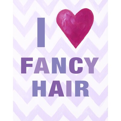 CiCi Art Factory I heart Fancy Hair Print Art