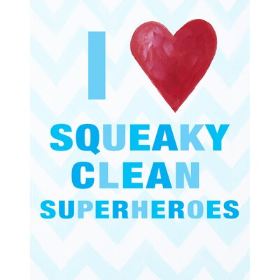 CiCi Art Factory I Heart Squeaky Clean Superheroes Print Art