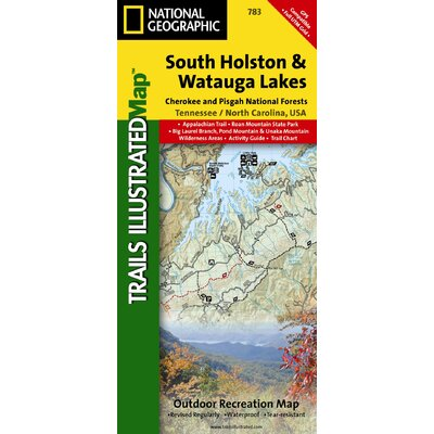 National Geographic Maps Trails Illustrated Map South Holston and Watauga Lakes, Cherokee & Pisgah N.F.s