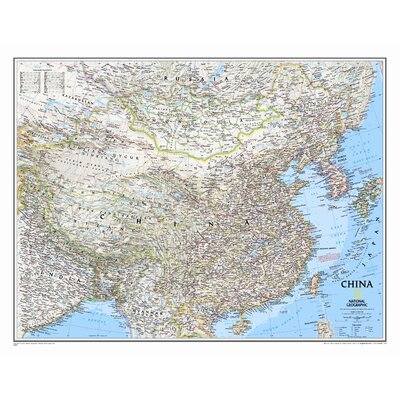National Geographic Maps China Classic Wall Map