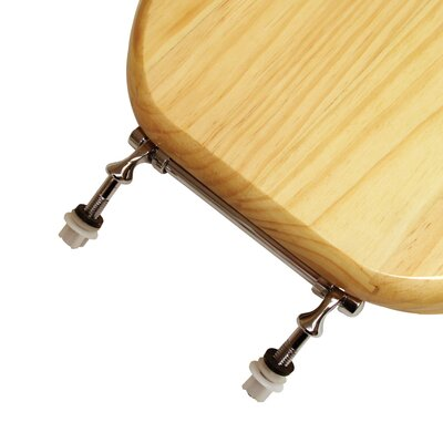 Comfort Seats Natural Pine Wood  Round Toilet Seat