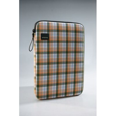Antenna Plaid Laptop Sleeve in Yellow / Green