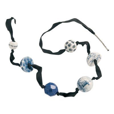 Makkum Pearl Necklace in Blue Collection by Alexander van Slobbe
