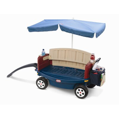 Little Tikes Deluxe Ride and Relax Wagon with Umbrella and Cooler