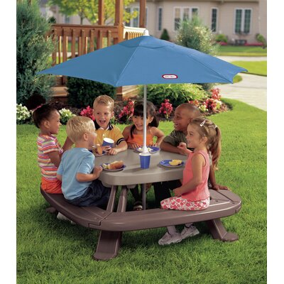 Little Tikes Endless Adventures Fold 'n Store Picnic Table with Market Umbrella