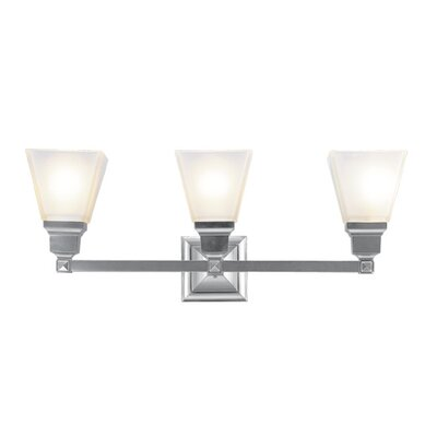 Livex Lighting Mission  Vanity Light in Brushed Nickel