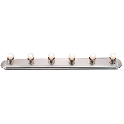 Livex Lighting Bath Basics 6 Light Bath Bar