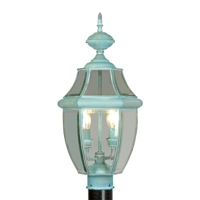 Livex Lighting Monterey Outdoor Post Lantern in Verdigris