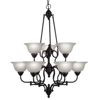 Livex Lighting Countryside 9 Light Chandelier
