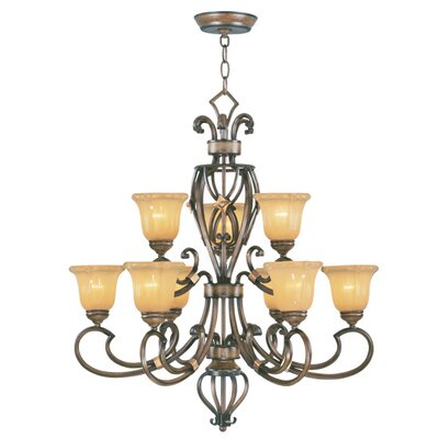 Livex Lighting Wellington 9 Light Chandelier