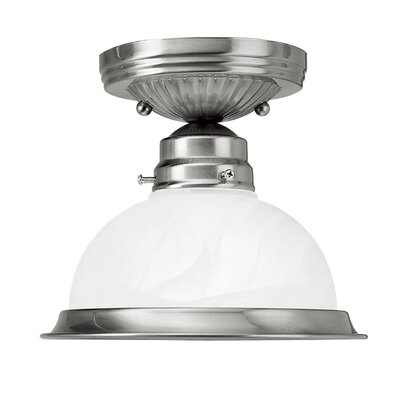"Livex Lighting 6.25"" 1 Light Semi Flush Mount"