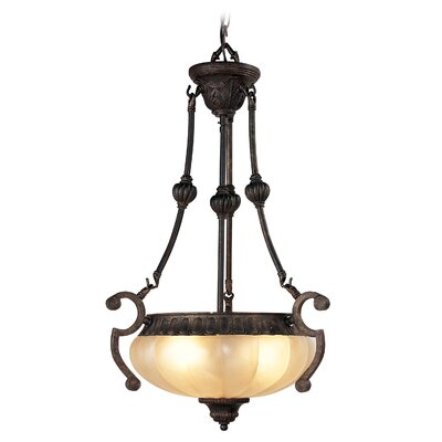 Livex Lighting Aladdin 3 Light Inverted Pendant