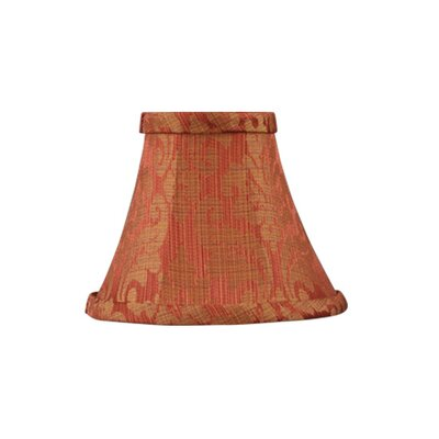 Livex Lighting Bell Clip Silk Chandelier Shade with Gold Leaf Design in Coral
