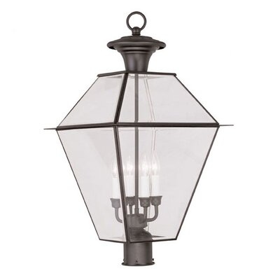 Livex Lighting Westover 4 Light Outdoor Post Head