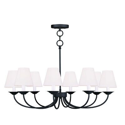 Livex Lighting Mendham 8 Light Convertible  Chandelier