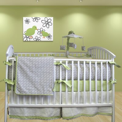 Bebe Chic Metro 3 Piece Crib Bedding Set with Bumper