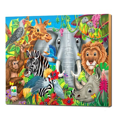 48 Piece Lift and Discover Jigsaw Puzzle - Animals of the World