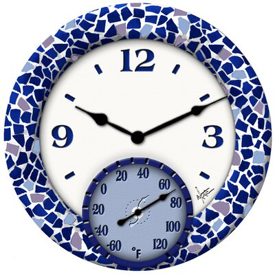 Mosaic Sea Clock with 14