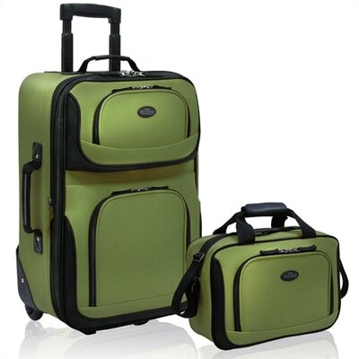 Traveler's Choice U.S. Traveler - RIO Expandable 2 Pc Luggage Set in Green