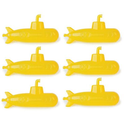 Kikkerland Reusable Ice Cubes Submarine (Set of 6)