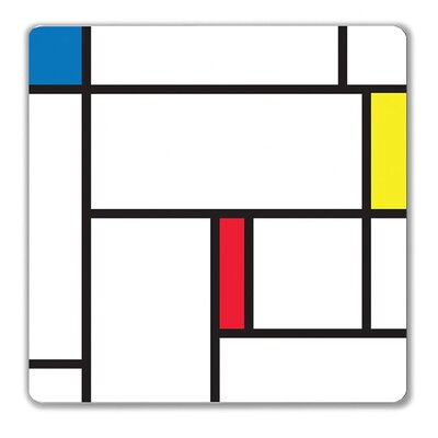 Kikkerland Magnetic Wipe Board Large Color Block