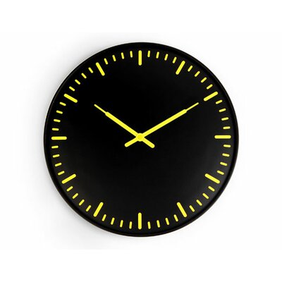 Kikkerland Ultra Flat Wall Clock Swiss Station
