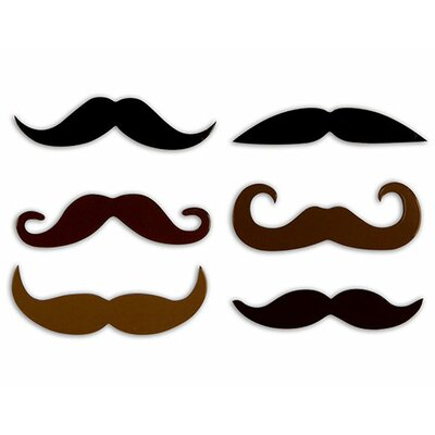 Kikkerland Mustache Rubber Magnets