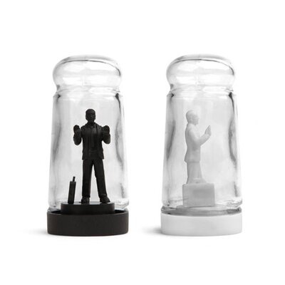 Kikkerland Drowning in Debt Salt and Pepper Shaker