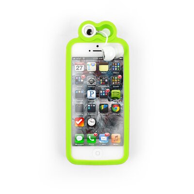 Kikkerland Froggy iPhone 5 Case with Earbuds