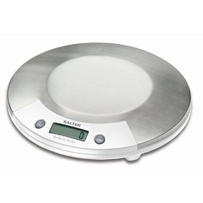 Electronic Kitchen Scale in Stainless with White Accents