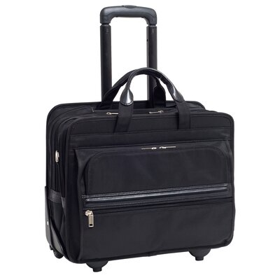 P Series Franklin Nylon 2-in-1 Removable-Wheeled Laptop Case in Black